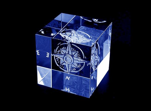 Róża wiatrów nagrody w rankingach - szklane statuetki grawerowanie 3d