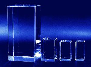 Prostopadłościany - wzory statuetek szklanych
