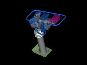 Ubijak wibracyjny projekt wizualizacja 3d - perspektywa 2