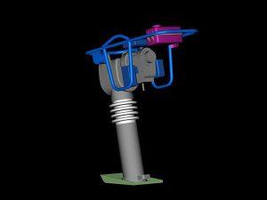 Ubijak wibracyjny projekt wizualizacja 3d - perspektywa 3