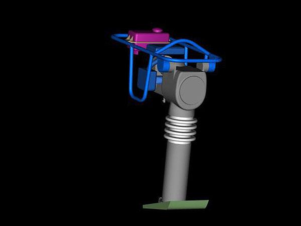 Ubijak wibracyjny projekt wizualizacja 3d - perspektywa 4