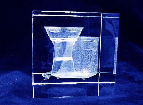 Robot kuchenny grawerowanie 3d szklana statuetka