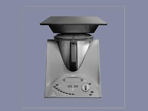 Wizualizacja projekt grawerowania 3d robot kuchenny - widok z przodu