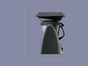Wizualizacja projekt grawerowania 3d robot kuchenny - widok z boku