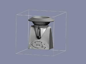 Wizualizacja projekt grawerowania 3d robot kuchenny - perspektywa 1