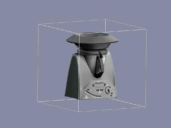 Wizualizacja projekt grawerowania 3d robot kuchenny - perspektywa 2