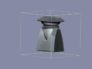 Wizualizacja projekt grawerowania 3d robot kuchenny - widok z tyłu