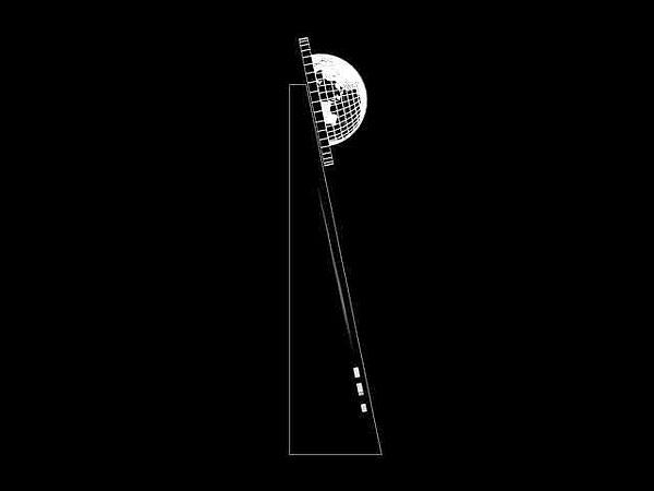 Żużel nagroda wizualizacja 3d statuetka - widok z boku