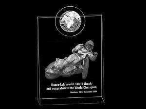 Żużel nagroda wizualizacja 3d statuetka - perspektywa