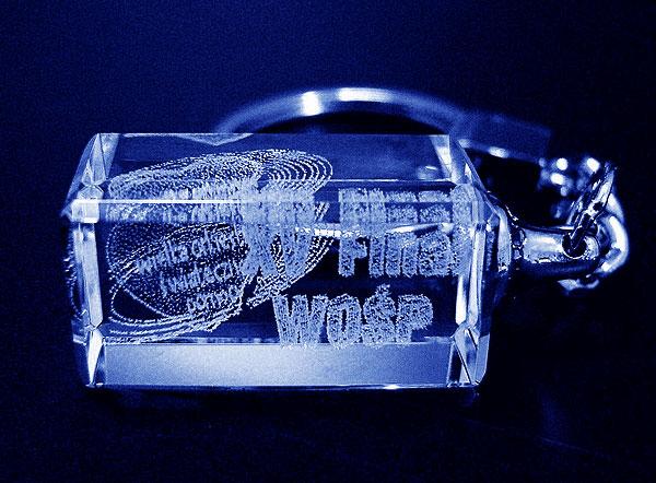 Szklana zawieszka do kluczy pamiątka - 15 finał WOŚP