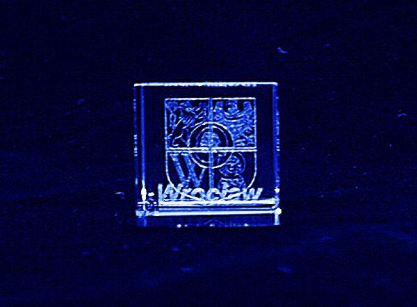Herb Wrocław grawer 3d w szkle