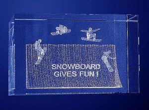 Statuetka sportowa snowboard
