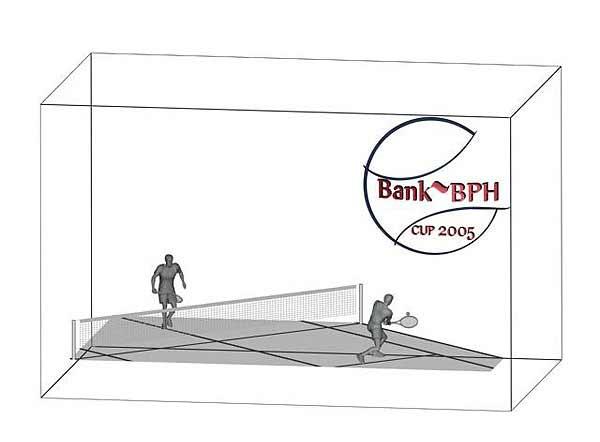 Wizualizacja 3d Statuetki nagrody w tenisie ziemnym