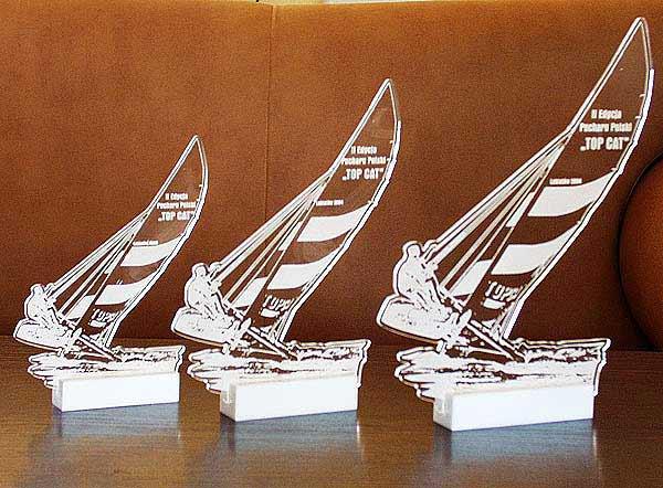 Statuetka nagroda w regatach żeglarskich