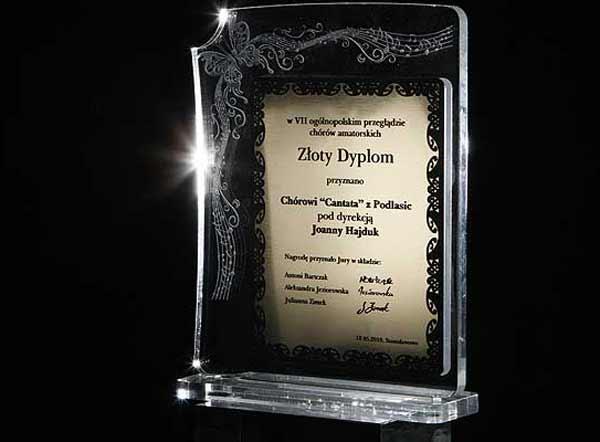 Statuetka nagroda dla chóru amatorskiego