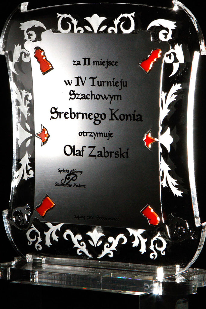 Statuetka akryl pleksi turniej szachowy