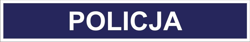 Rysunek identyfikatora mundurowego Policji - kolor srebrny