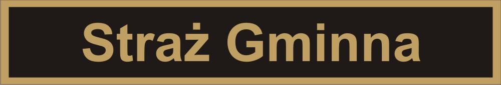 Rysunek identyfikatora mundurowego Straży Gminnej