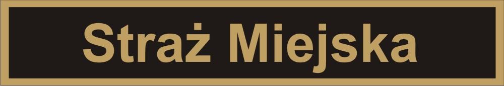 Rysunek identyfikatora mundurowego Straży Miejskiej