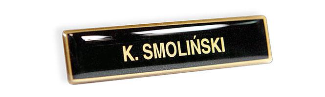Imiennik identyfikator imienny do munduru dla Straży Gminnej i Miejskiej