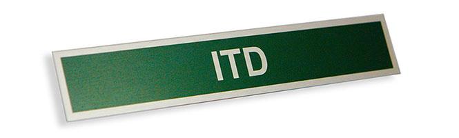 Metalowy nieścieralny identyfikator ITD
