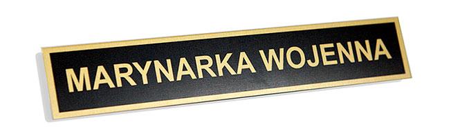 Nieścieralny identyfikator metalowy do munduru dla Marynarki Wojennej