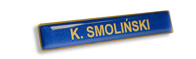 Imiennik mundurowy dla Policji - złoty