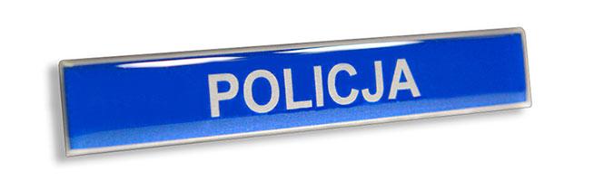 Srebrny imiennik identyfikator imienny do munduru dla Policji