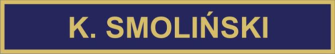 Rysunek złotego imiennika dla Policji