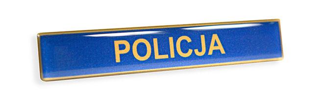Złoty imiennik identyfikator imienny do munduru dla Policji