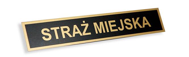 metalowy identyfikator imiennik straż gminna