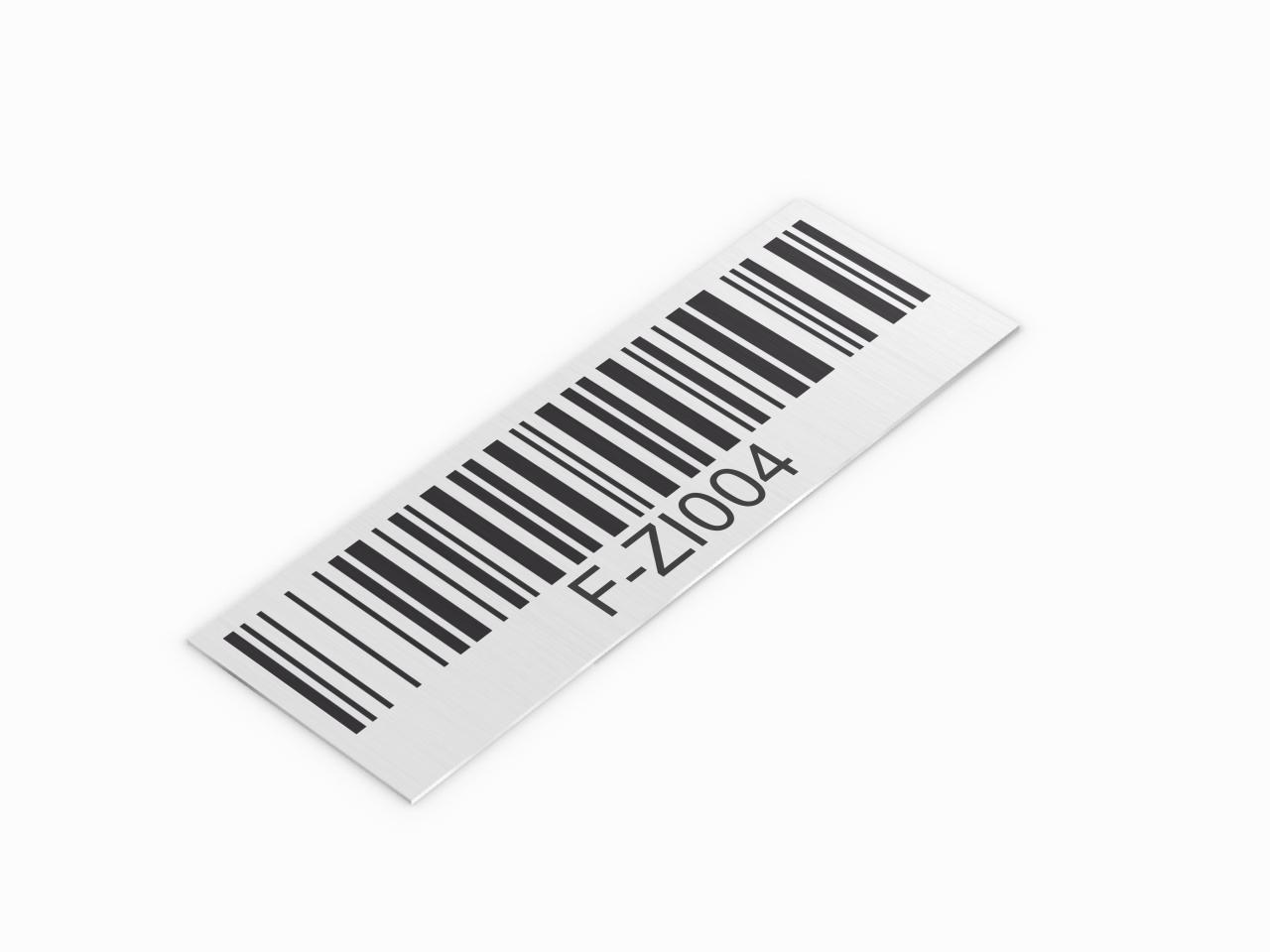 inwentaryzacyjna tabliczka aluminiowa z kodem kreskowym