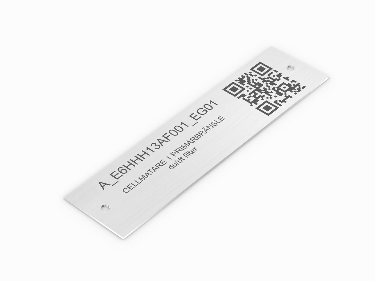 inwentaryzacyjna identyfikacyjna tabliczka aluminiowa z kodem QR