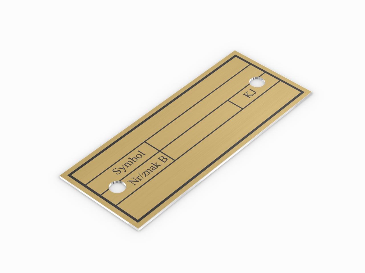 Inwentaryzacyjna identyfikacyjna tabliczka aluminiowa w kolorze złotym do samodzielnego wybicia numerów